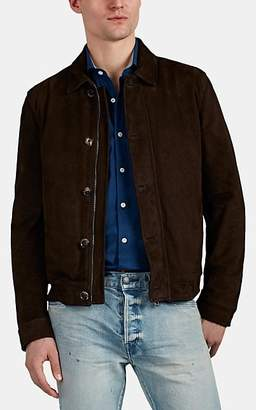 Isaia Men's Suede Jacket - Brown