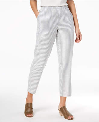 Eileen Fisher Striped Pull-On Ankle Pants, Regular & Petite