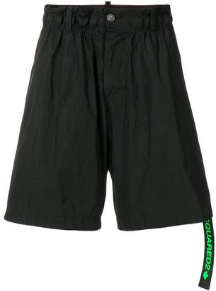 DSQUARED2 flared track shorts