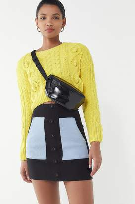 Urban Outfitters Simi Button-Front Sweater Mini Skirt