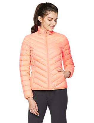 Otterline Women's Regular-fit with Full Front Zip Light Weight Packable Down Jacket Pink L