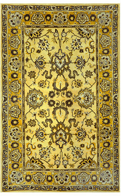 "Liora Manné Area Rug, Petra 9054/09 Agra Yellow 2'3"" x 8' Runner Rug"