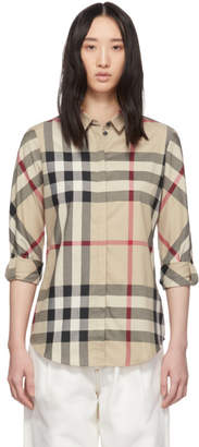 Burberry Beige IP Check Shirt