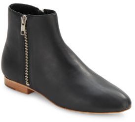 Leather Zipped Ankle Boots $395 thestylecure.com