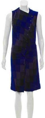 Balenciaga Sleeveless Plaid Dress