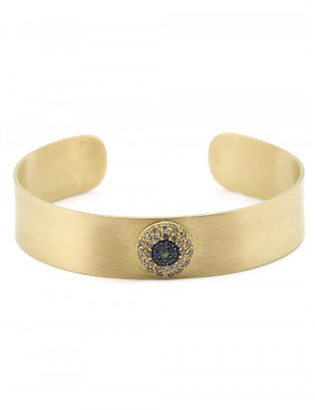 Ileana Makri 'Round Evil Eye' cuff $7,305 thestylecure.com