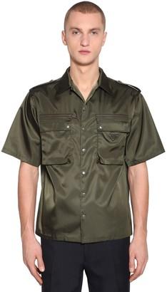 Prada Army Nylon Bowling Shirt