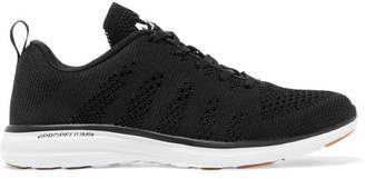 APL Athletic Propulsion Labs - Techloom Pro Mesh Sneakers - Black $140 thestylecure.com