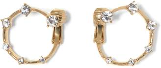 Vince Camuto Goldtone Jeweled Clip-on Hoop Earrings
