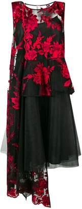 Antonio Marras sheer floral asymmetric dress