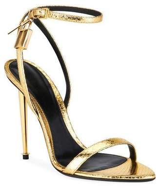 Tom Ford Laminated Printed Python Sandals