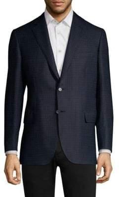 Brioni Virgin Wool& Silk Check Suit Jacket