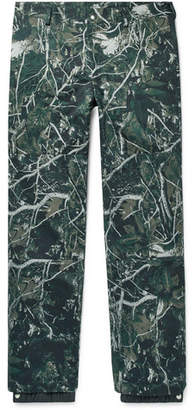 Lanvin Tapered Camouflage-Print Cotton-Twill Trousers