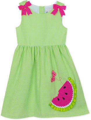 Rare Editions Toddler Girls Watermelon Gingham Dress
