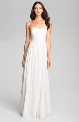 Jenny Yoo Monarch Sweetheart Neckline Layered Chiffon Gown