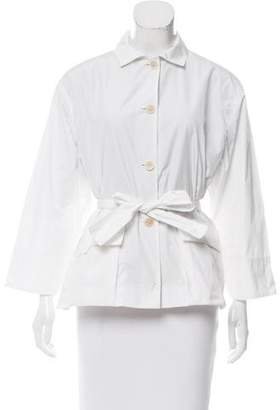 Narciso Rodriguez Tie-Accented Lightweight Jacket