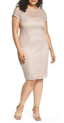 Marina Sequin Lace Sheath Dress