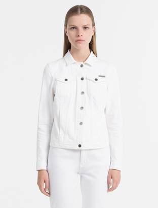 Calvin Klein denim ecru trucker jacket