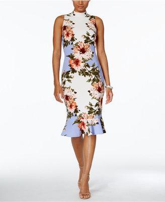 JAX Floral-Print Ruffle-Hem Sheath Dress $148 thestylecure.com