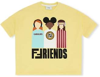 Fendi Friends print cropped T-shirt