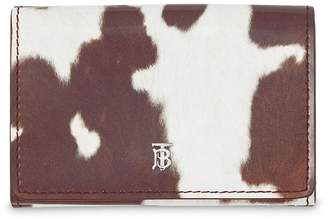 Burberry Small Cow Print Leather Folding Wallet