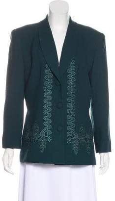 Christian Dior Wool Embroidered Blazer