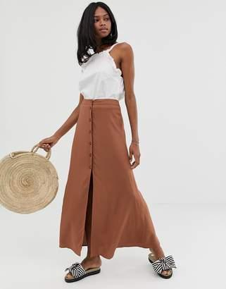 Asos Design DESIGN button front maxi skirt