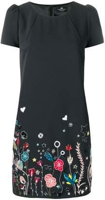 Elisabetta Franchi embroidered hem shift dress