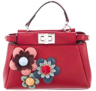 Fendi Micro Flower Peekaboo Crossbody w  Tags 1e4a0820fb151