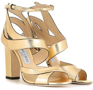 Jimmy Choo Falcon 100 leather sandals