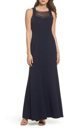 Vince Camuto Sleeveless Scuba Crepe Gown