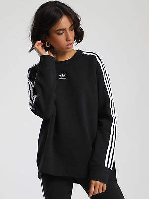 adidas New Crew Sweater In Black Womens Sweaters & Jumpers