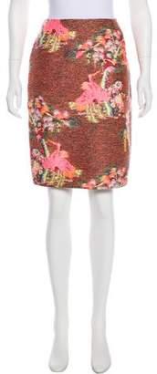 Matthew Williamson Jacquard Knee-Length Skirt
