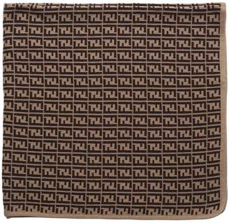 Fendi Cotton & Cashmere Blend Knit Blanket
