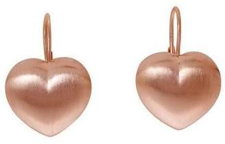 Bronzo Italia Heart-Shaped Lever Back Earrings