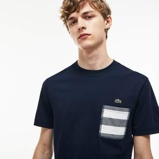 Lacoste Men's Striped Pocket Cotton T-Shirt