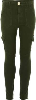 River Island Girls Khaki Amelie skinny jeans