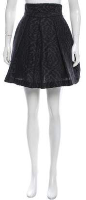 Brian Reyes Mohair-Blend Knee-Length Skirt