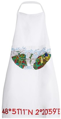 Kilometre Paris - Cuixmala Mexico Embroidered Cotton Apron - Womens - White Multi