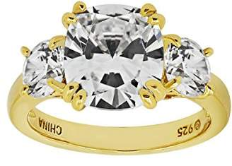 "Swarovski La Lumiere Yellow Gold Plated Sterling Silver Celebrity ""Meghan"" Ring made with Zirconia Accents"