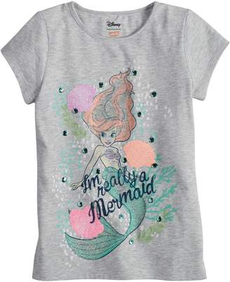 "Disneyjumping Beans Disney's The Little Mermaid Ariel Girls 4-7 ""I'm Really A Mermaid"" Fitted Tee by Jumping Beans"