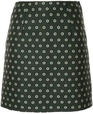 ALEXACHUNG Alexa Chung floral embroidery mini skirt