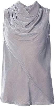 Rick Owens velvet draped collar top