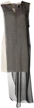 Yang Li contrast panel dress