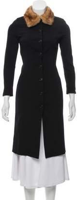 Dolce & Gabbana Fur-Trimmed Knee-Length Coat