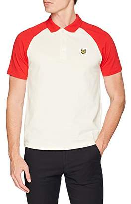 Lyle & Scott Men's Raglan Polo Shirt (Seashell White Z269), (Manufacturer Size:XL)