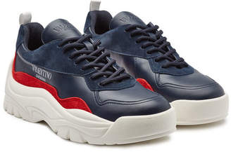 Valentino New Sneakers in Suede and Leather