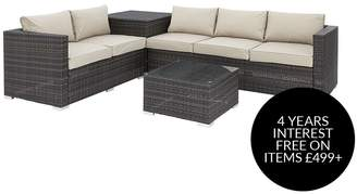 Coral Bay 5-Seater Corner Garden Sofa With Storage And Table