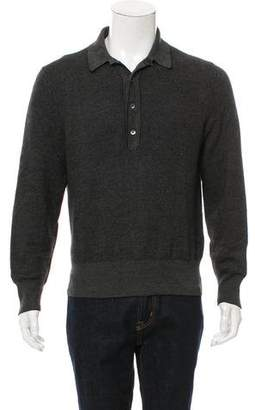 Tom Ford Wool & Cashmere-Blend Polo Sweater