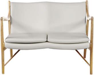 808 Home Copenhagen 45 Leather Mid-Century Modern Loveseat